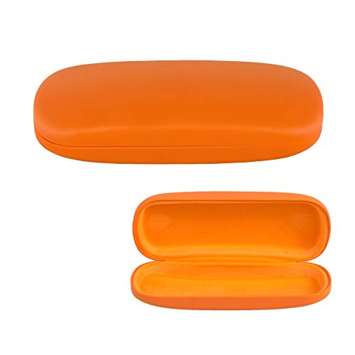 Hard Shell Eyeglass Case, Protective Case for Glasses and Sunglasses-(Orange)
