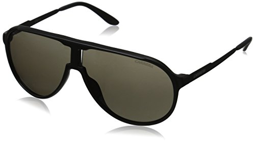 Carrera New Champion Aviator Sunglasses, Matte Black & Brown