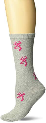 Browning Women's Heartland Socks | Pink | Medium | One Pair ()