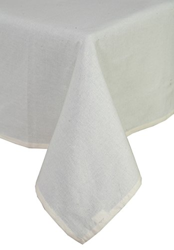 Linen Clubs 100% Cotton, Machine Washable, Everyday Kitchen Tablecloth for Dinner Parties, Summer & Outdoor Picnics - 52x72, Color - Beige, Set of 2 Pieces