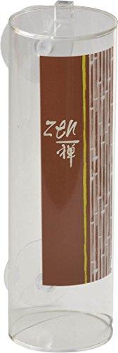 EVIDECO 6700371 Jade Bathroom Round Acrylic Cotton Makeup Pad Dispenser Suction ()