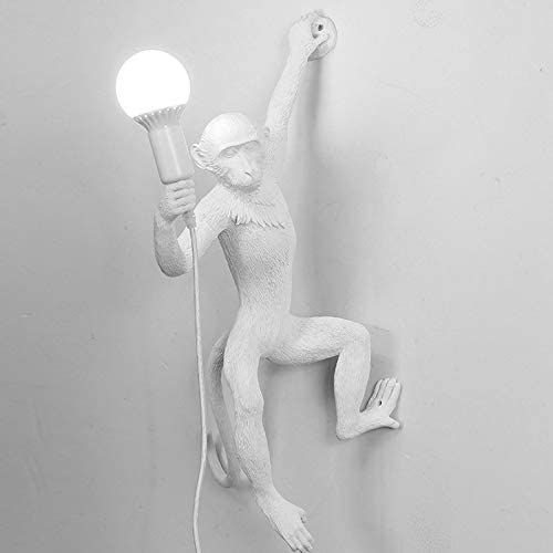 Zcm Floor lamp Modern Monkey Resin Floor Lamps Standing Lamp for Bar Coffee Living Room Kids Indoor Lighting (Lampshade Color : Black Table lamp)