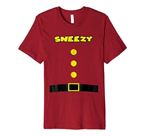 Sneezy Dwarf Halloween Costume Sneezy Dwarf Tshirt Sleepy]()