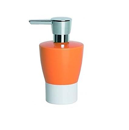 Dispensador jabon naranja ceramica Opera Spirella