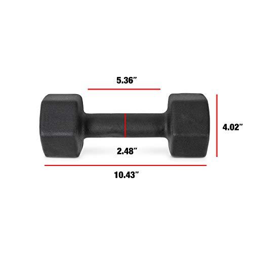 CAP Barbell Neoprene Coated Single Dumbbell, Black, 15-Pound by CAP Barbell (Image #3)