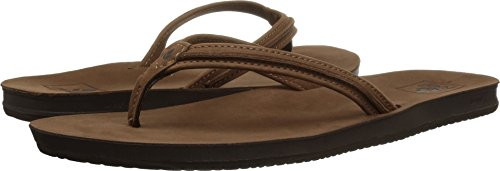 - Reef Cushion Bounce Swing Leather Flip Flops for Women, Tobacco, 9 M US