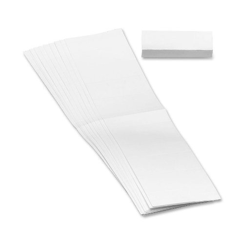 Smead Replacement Insert for Poly Tab, Blank, 1/3-Cut, 3-1/4-Inch Wide, 100 Pack (68670) by Smead