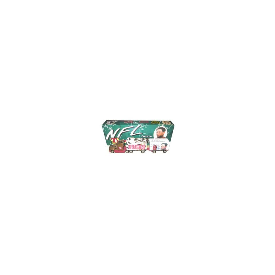 Steve Young Autographed White Rose Collectibles Semi Truck Trailer