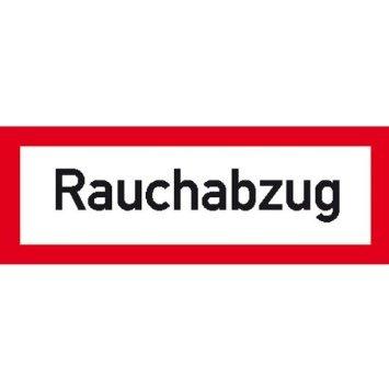Hinweisschild Brandschutz Rauchabzug, selbstkl. Folie , Größe 14,80x5,20cm