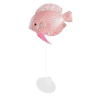 DealMux silicona acuario artificial emulación del flotador que brilla pescado ornamento Rosa Blanco: Amazon.es: Productos para mascotas