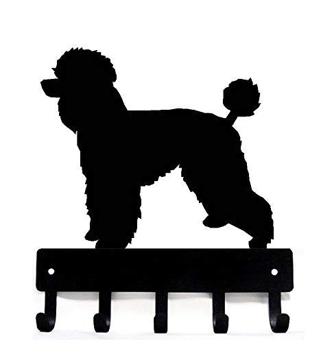 (The Metal Peddler Poodle Natural Cut Key Rack Dog Leash Hanger - Large 9 inch Wide)