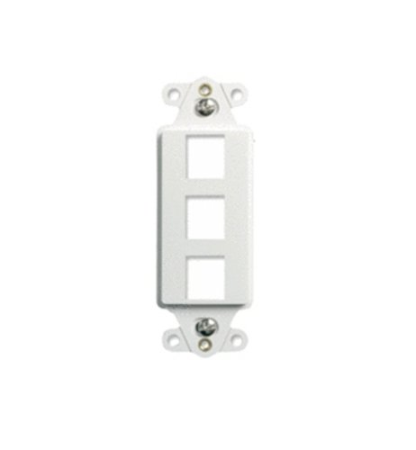 Q WP3413WH 3Port Decorator Outlet product image