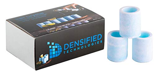 Salt Crystal Shot Glass or Shooter Glass 6 Pack for Tequila. Light Sky Blue Color. Made in Canada by Densified Technologies.