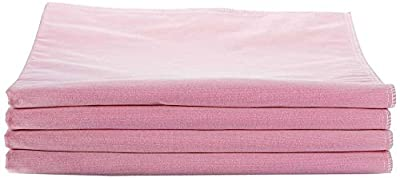 """Medline Softnit 300 Washable Underpads, Pack of 4 Large Bed Pads, 34"""" x 36"""", For use as incontinence bed pads, reusable pet pads, great for dogs, cats, and bunny"""