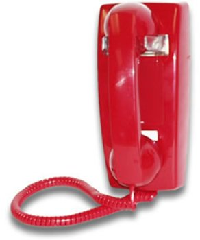 Viking Hot Line Wall Phone - Red
