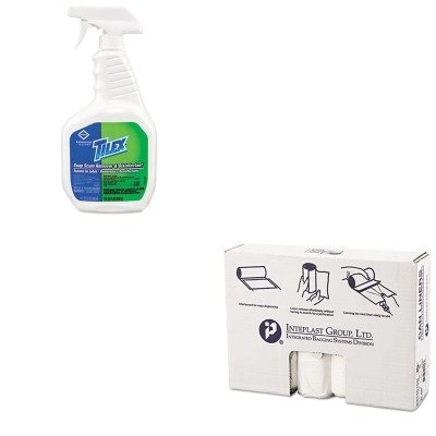 KITCOX35604EAIBSS334016N - Value Kit - Clorox Soap Scum Remover and Disinfectant (COX35604EA) and IBS S334016N High Density Interleaved Commercial Coreless Roll Can Liners, Natural (IBSS334016N) by Clorox (Image #1)