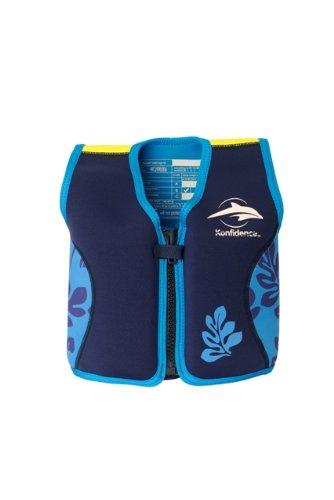 Kinder-Schwimmweste aus Neopren, navy/blue palm, Konfidence Jacket Größe: 12-16 kg (2-3 Jahre), Brustumfang 56 cm