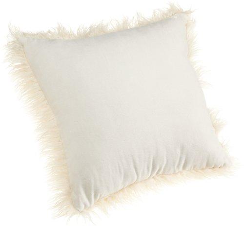 Brentwood 18 Inch Mongolian Faux Fur Pillow White Buy