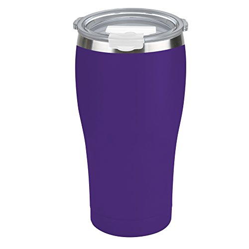 Tahoe Trails Stainless Steel Tumbler Vacuum Insulated Double Wall Travel Cup with Lid (Purple, 16oz) by Tahoe Trails