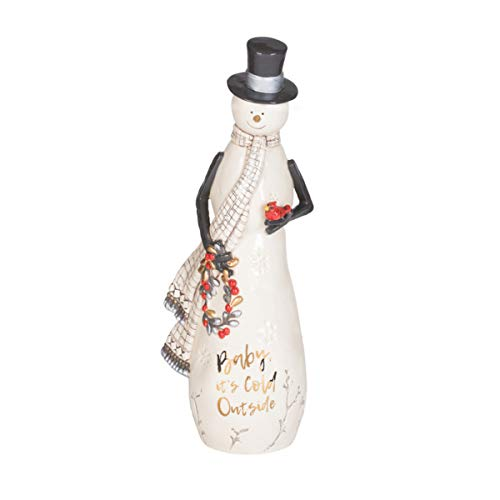 Fitz and Floyd Wintry Woods Snowman Figurine