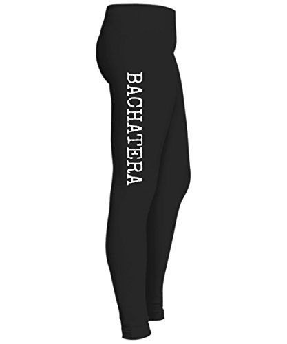 Cheap Bachata dance side print black leggings for lessons, dancing or daily wear - Latin dancer clothing supplier
