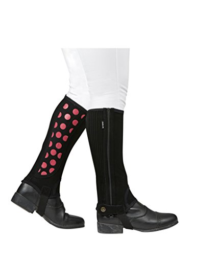 Dublin Easy-Care Spot Print Half Chap Black/Pink Childs Large ()