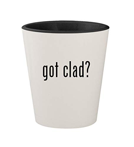 got clad? - Ceramic White Outer & Black Inner 1.5oz Shot Glass