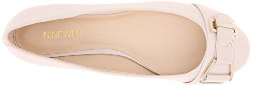 Negen West-vrouwen Mackles Lederen Ballet Plat Uit Wit