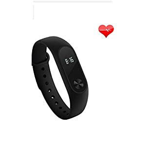 [2016 Newly LED Display Mi Band],Xiaomi Mi Band 2 With LED Display Touchpad Smart Heart Rate Monitor Fitness Tracker Pedometer Waterproof Wireless Bluetooth 4.0 Wristband