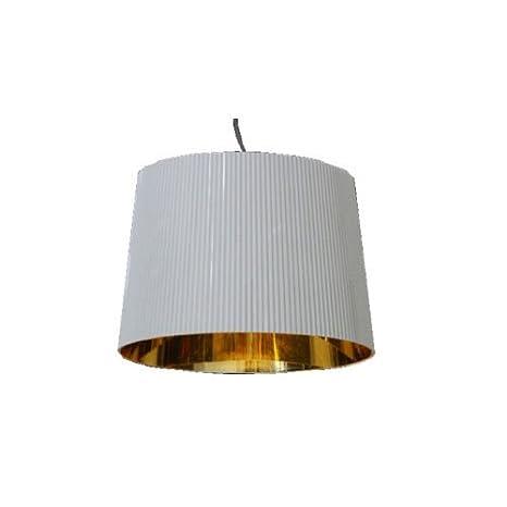 Kartell 9080KK Ge - Lámpara de techo, color blanco/dorado ...