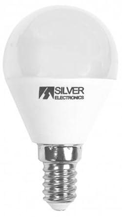 Silver Electronics Bombilla LED 5000K E14, 7 W, Blanco 3 x 4.5 x 8.1 cm: Amazon.es: Iluminación