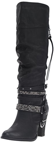Not Rated Women's Stacey Slouch Boot, Black, 7 M - Slouch Boot Buckle Knee