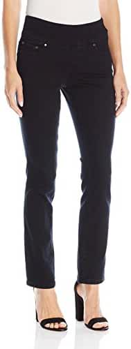 Jag Jeans Women's  Petite Peri Pull On Straight Leg Jean in Comfort Denim