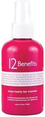 Instant Healthy Hair Treatment by 12 Benefits Size: 6 Ounce Label May Vary