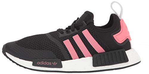 adidas Originals Men's NMD_r1 Sneaker, Black/Signal Pink/White, 8