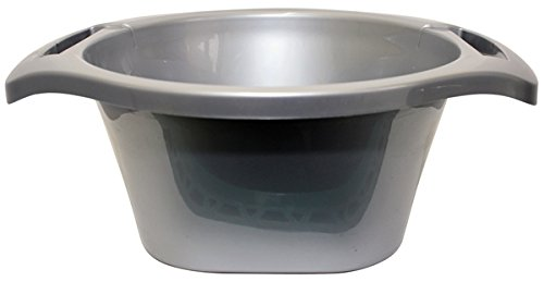 Majestic Giftware WBP-GY Plastic Wash Bowl, 6 by 15-Inch, Grey by Majestic Giftware