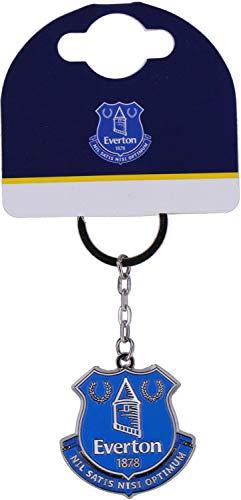 Everton Fc Official Crest Keyring Metal Keychain
