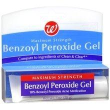 Walgreens Benzoyl Peroxide Acne Medication Gel Maximum Strength 1.0 oz.  (Quantity of 2)