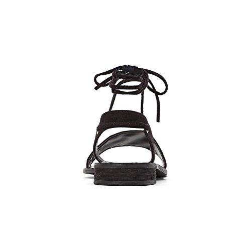 Schwarz Nietenverzierung Sandalen 41 Breite 3845 Castaluna Frau Fusse mit Gre qt8nxzp5w
