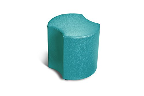 Logic Furniture MOONETL18 Moon 3 Eclipse Ottoman, 18'', Teal by Logic Furniture
