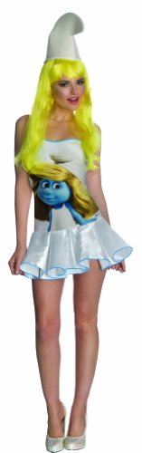 Secret Wishes  Smurfs Sexy Smurfette Costume Dress, Multi, Large