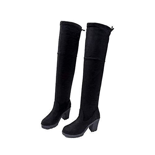 Deed Boots Invierno E Single High Botas De Zapatos Mujer Heel Eu 35 Otoño Slim Martin Head gw1grfqA