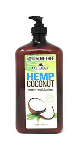 Malibu Tan HEMP COCONUT Body Moisturizer 40% More Free 25.4oz