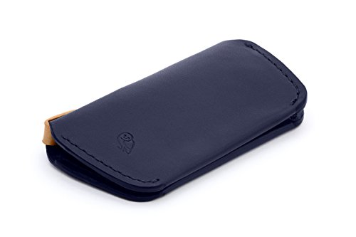 Bellroy Leather Key Cover Navy (As Things Change They Stay The Same)