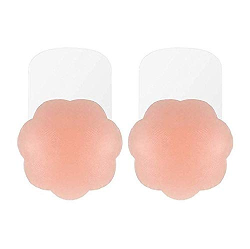 Price comparison product image Mystiqueshapes Reveal Cleavage Adhesive Silicone Breast Enhancers Breast Lift Reusable Nipple Cover Pasties (Nude)