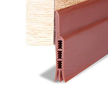 Stick&Seal Silicon Sweep Weather Stripping Door Draft Stopper (28 mm Width X 1 m Length, Brown)