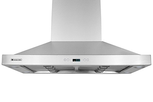XtremeAir PX05-I42 900 CFM LED lights, Both Side accessible Control, Baffle Filters with Grease Drain Tunnel, 1.0mm Non-Magnetic Stainless Steel Seamless Body, Island Mount Range Hood, 42'' by XtremeAIR (Image #2)