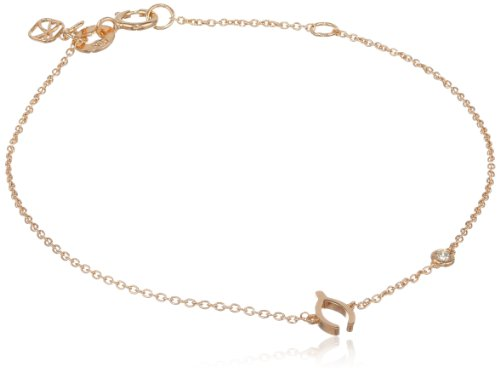 Shy by SE Wishbone Bracelet with Diamond Bezel