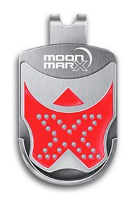 MoonmarxGolf Ball Marker and Putt Aligner with Magnetic Clip (Red). Patented high quality ball marker made from Stainless Steel. Conforms to USGA standards. 30 Day Money Back Guarantee!