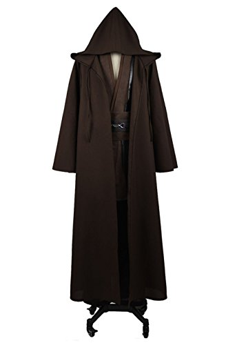 YANGGO Party Robe Costume Halloween Tunic Outfit US Size (Men Large, Coffee)]()